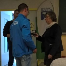 "Médaille de bronze ""dirigeant"", de la FFTA, pour Nicolas"